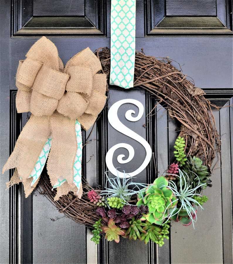 twig door wreath