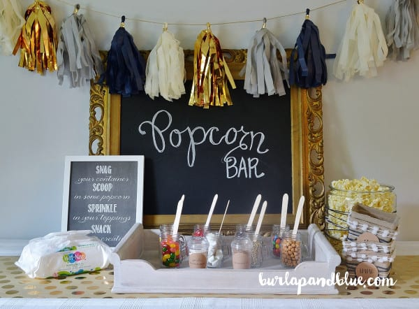 fall festival ideas popcorn bar