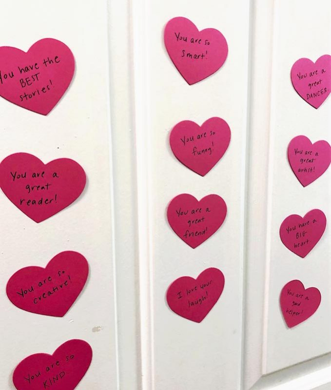 hearts on door
