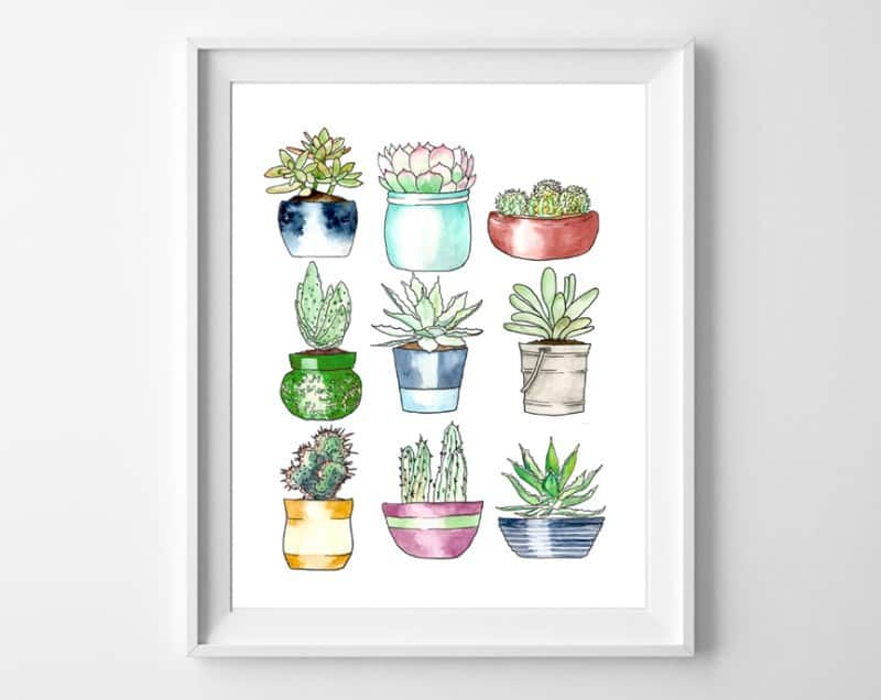 printable succulents