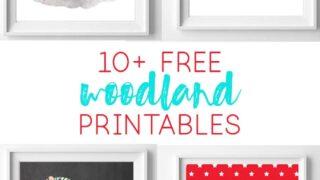 woodland printables | nursery art | free printables | woodland animals | free printable art | nursery art | nursery decor
