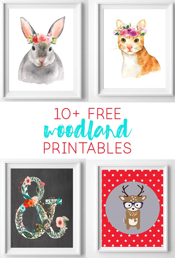 woodland printables | nursery art | free printables | woodland animals | free printable art | nursery art | nursery decor
