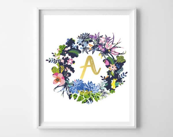 wreath wall art