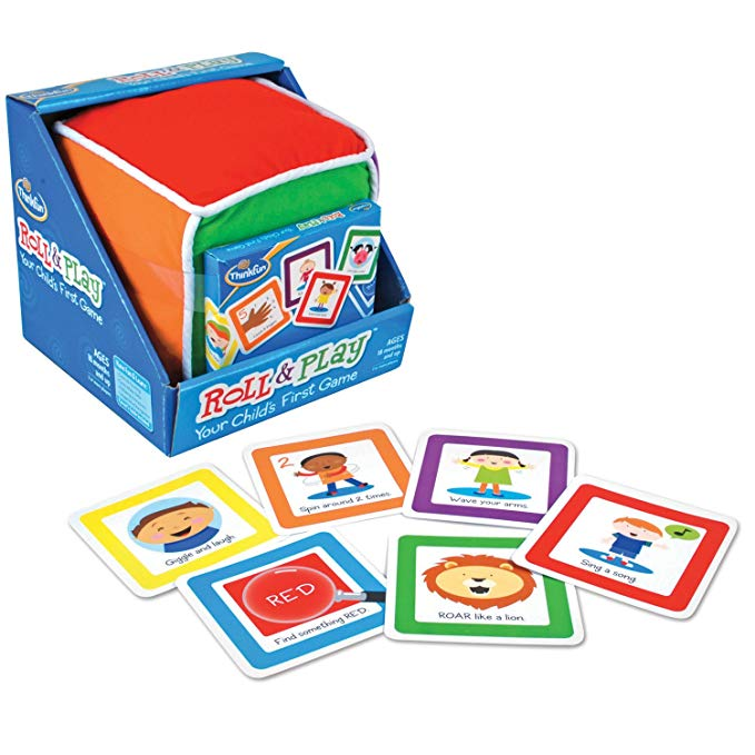 ThinkFun Roll and Play Game for Toddlers - Your Child's First Game! Award Winning and Fun Toddler Game