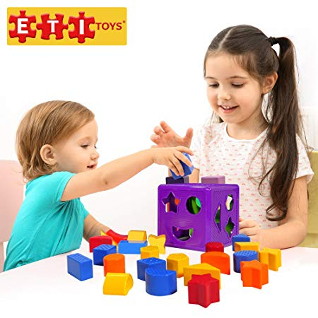 ETI Toys | 19 Piece Unique Educational Sorting Matching Toy for Toddlers