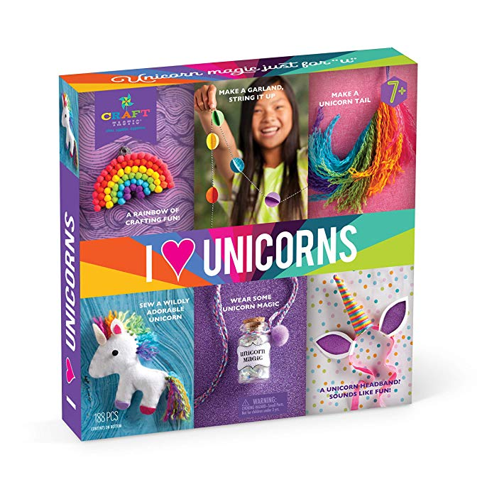 I Love Unicorns Craft Kit Includes 6 Unicorn-Themed Projects