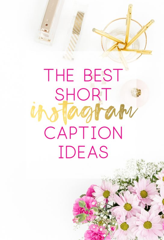Best Short Instagram Caption Ideas All Crafty Things