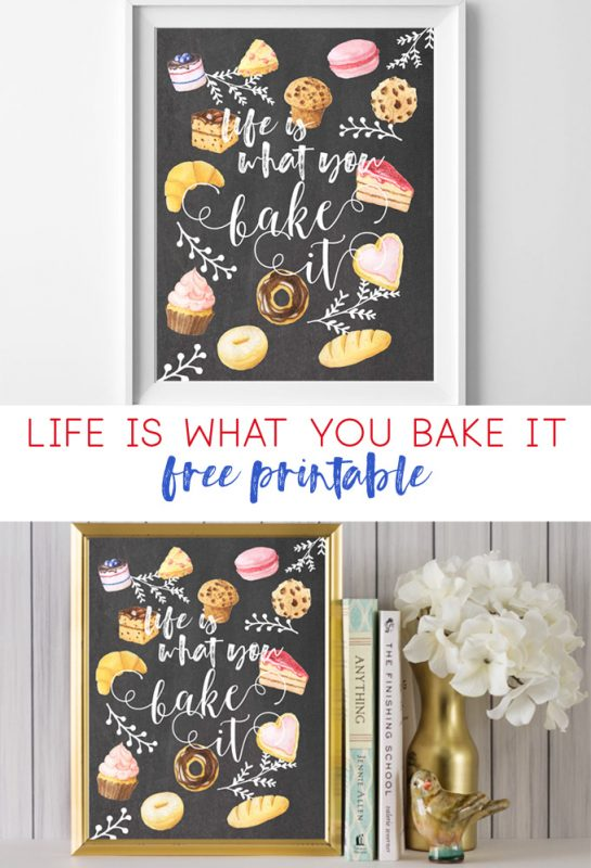 life is what you bake it | kitchen art | free printable | printable art | wall decor