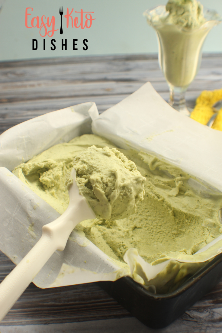 Basil Ice Cream (keto friendly, low carb, dairy free)