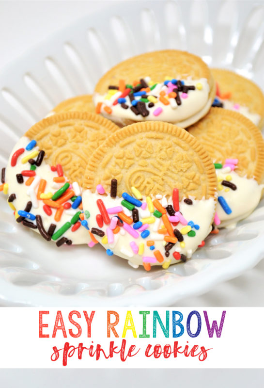 sprinkle cookies | dipped oreos | easy recipe | easy dessert | party food | gender reveal | sprinkles | sprinkles recipes