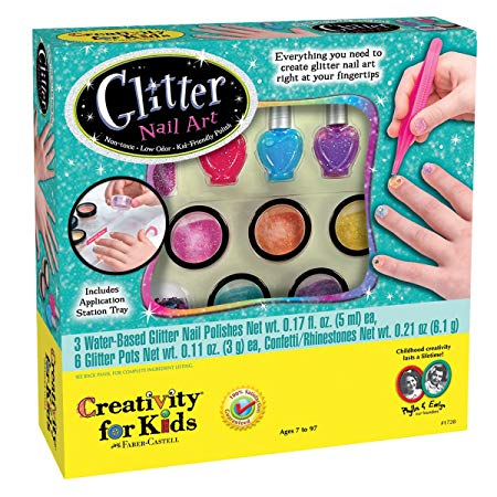 Creativity for Kids Glitter Nail Art - Glitter Manicure Kit for Kits