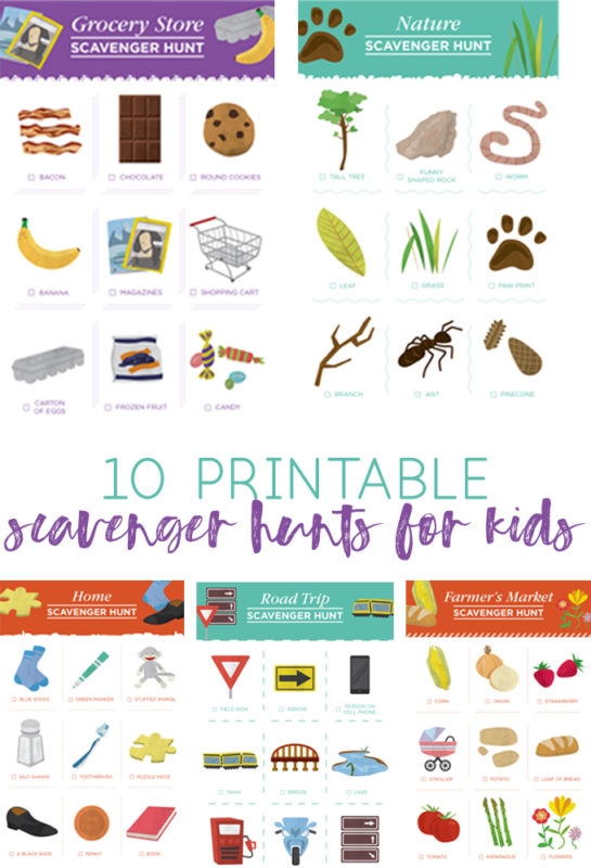scavenger hunt printables