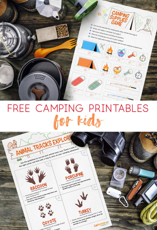 camping printables for kids