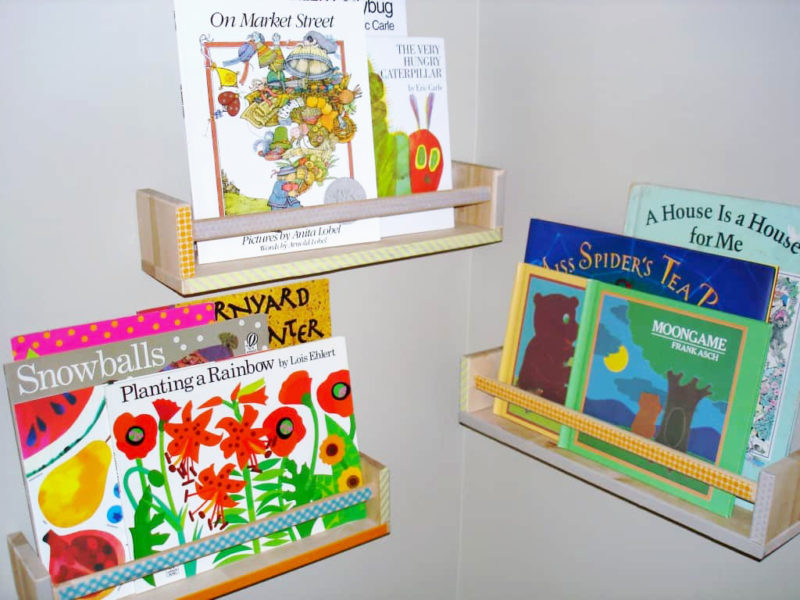 Ikea Hack Spice Racks As Adorable Book Storage All Crafty