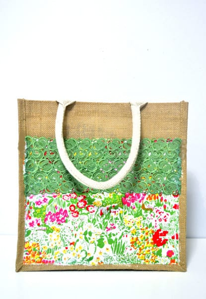 how to mod podge a tote bag {a tutorial}