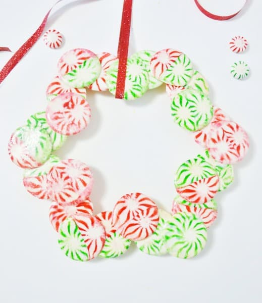 christmas mints wreath