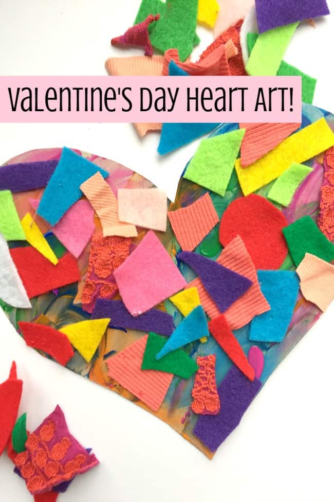 Valentine's Day Arts and Crafts: Textured Heart Activity - Best Toys 4 Toddlers