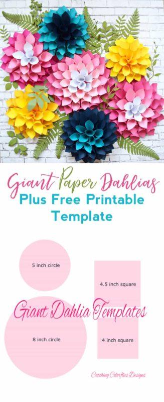 paper dahlias
