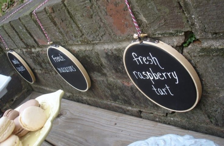 How to Make Chalkboard Embroidery Hoops