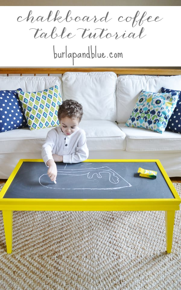chalkboard coffee table {a tutorial}