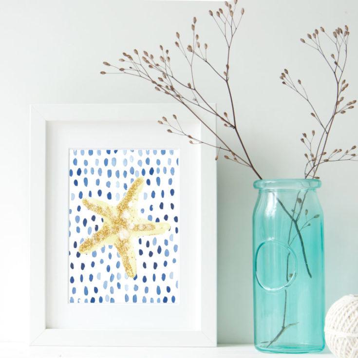 indigo & gold beach printables - all crafty things
