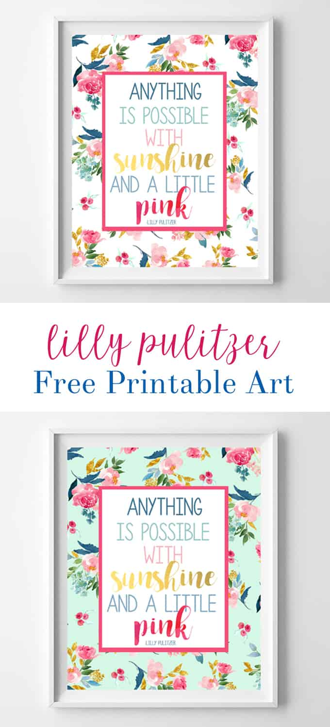 lilly pulitzer quote free printables