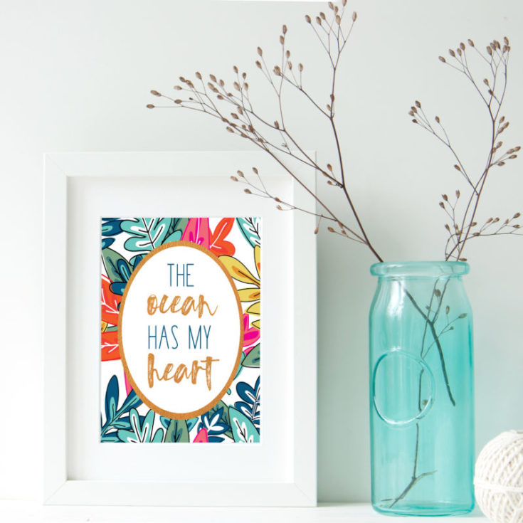 tropical free printables {the ocean has my heart}