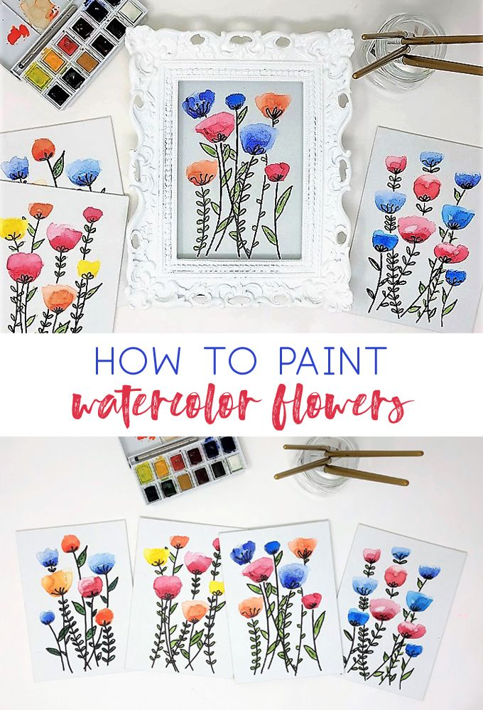 How to Paint Easy Watercolor Flowers {No Painting Skills Required}