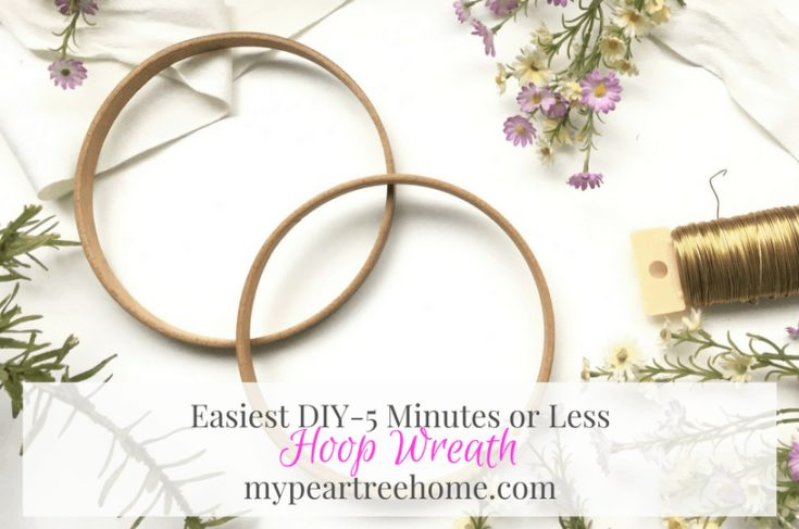 Easy Hoop Wreath DIY | My Pear Tree Home