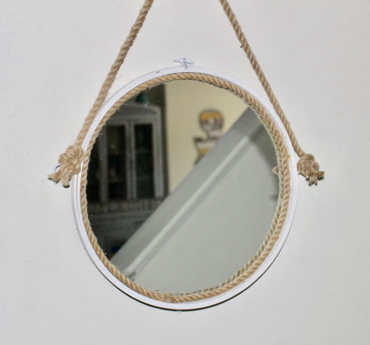 How To Make A Captains Mirror From An Embroidery Hoop Our Crafty Mom