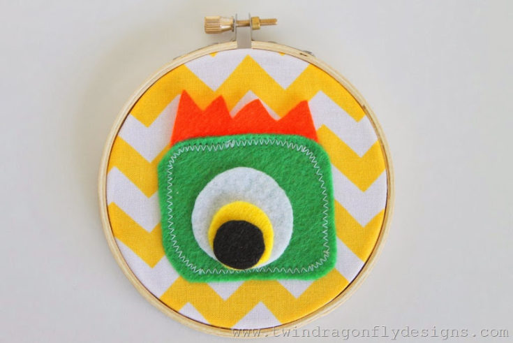 DIY Monster Embroidery Hoop Art » Homemade Heather