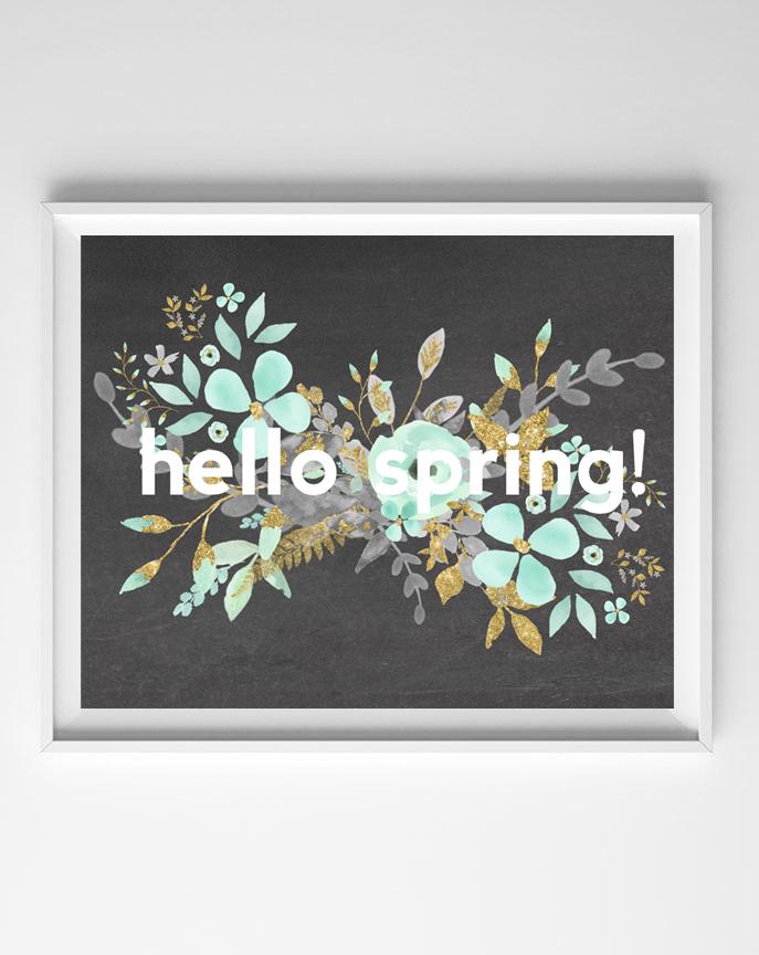 hello spring art