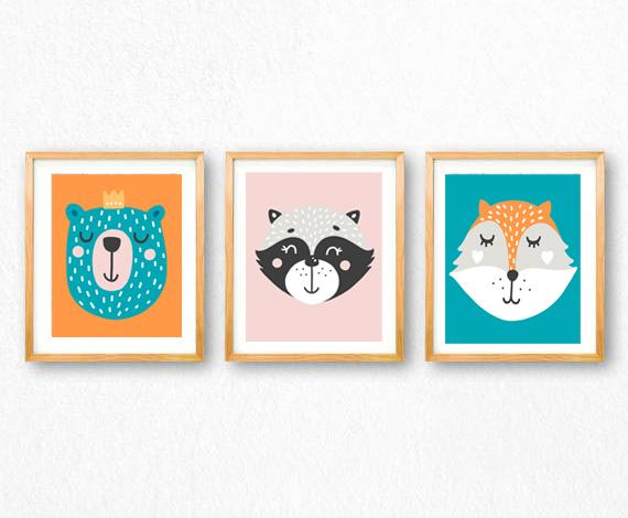 woodland animals printable