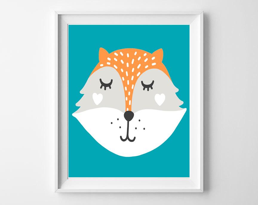 woodland fox printable