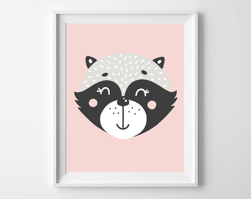 woodland skunk printable