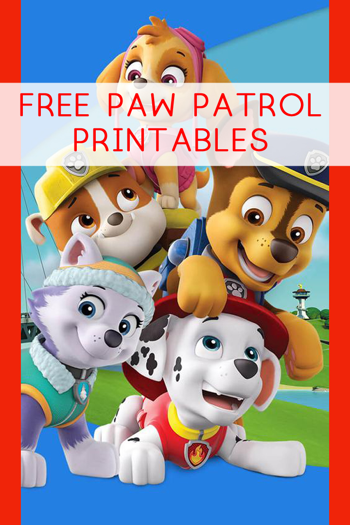 paw patrol printables